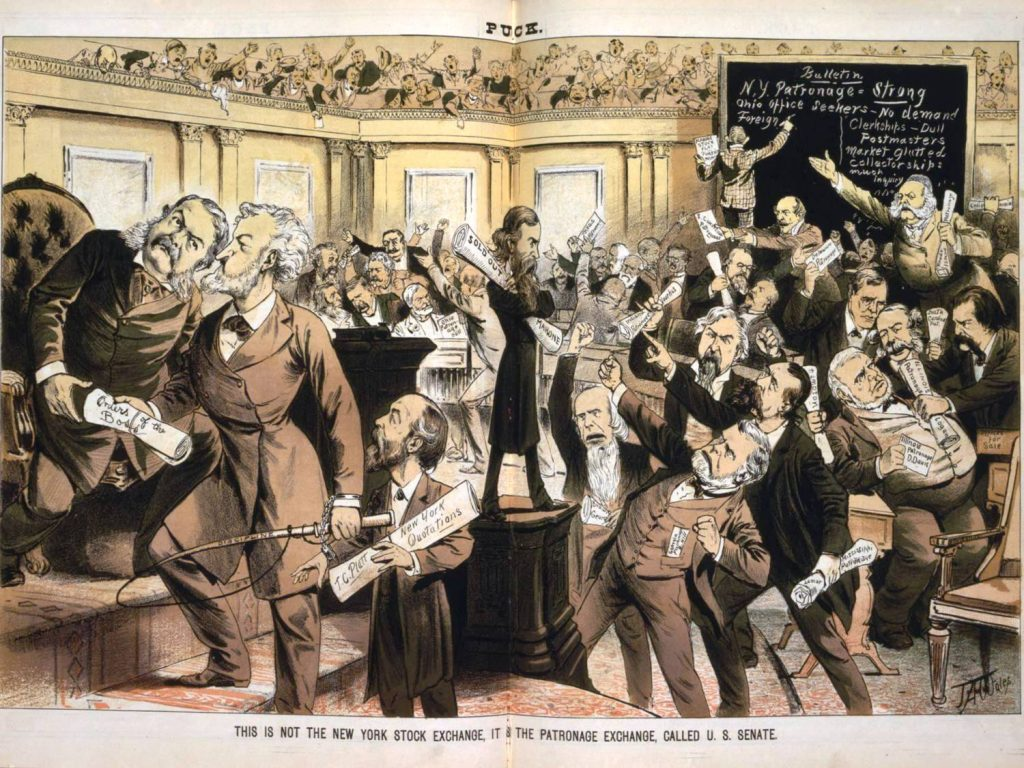 Patronage exhange called U.S. Senate