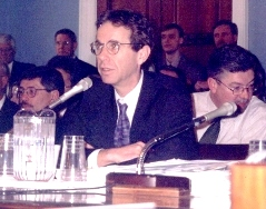 Ken testifying before Congress.